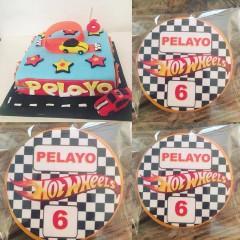 hotwheels, tarta niño, lupping, tarta coches, tarta estrellas, tarta pista, tarta coches de carrera