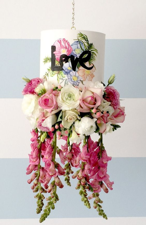 Hanging love cake by Sugablossom Cakes | Creative wedding cakes, Sydney
