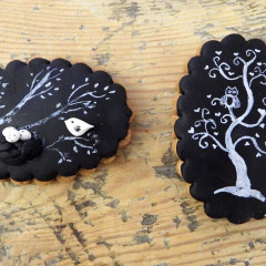 galleta pintada, galleta arbol, galleta nido, galleta pajaro, buho