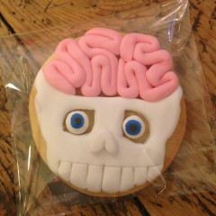 galleta calavera, galleta cerebro, galleta medico, galleta cirujano