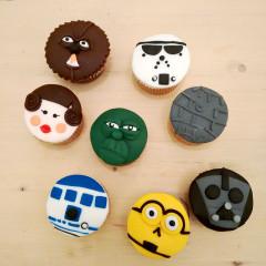 guerra de las galaxias, cupcakes, cupcakes decoradas, fondant, fiesta tematica